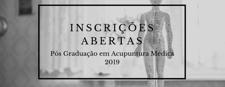 Inscrições abertas para Especialização em Acupuntura Médica 2019